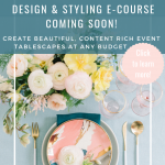 RO & Co. Events Tablescape Design Styling E-Course